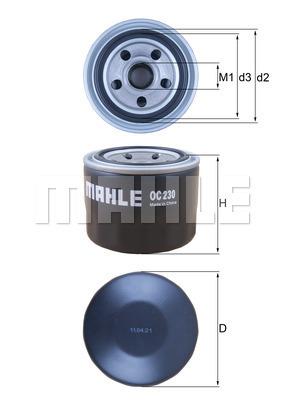 Filtre a huile MAHLE OC 230 (X1)