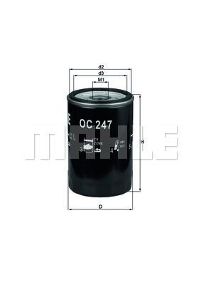 Filtre a huile MAHLE OC 247 (X1)