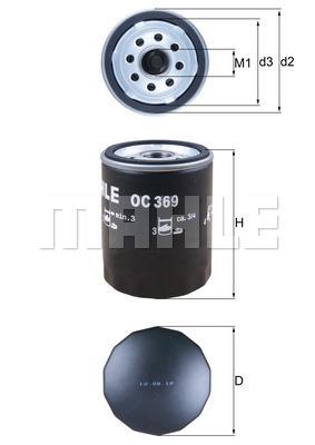 Filtre a huile MAHLE OC 369 (X1)
