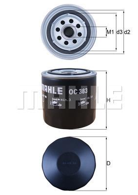 Filtre a huile MAHLE OC 383 (X1)