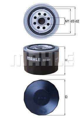 Filtre a huile MAHLE OC 384 (X1)