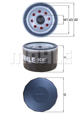Filtre a huile MAHLE OC 467 (X1)