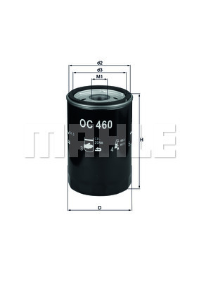 Filtre a huile MAHLE OC 460 (X1)