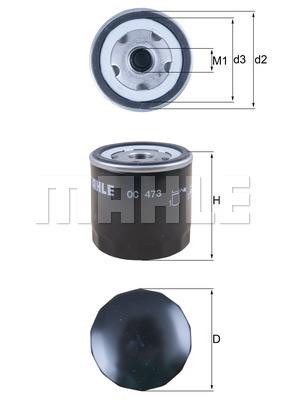Filtre a huile MAHLE OC 473 (X1)