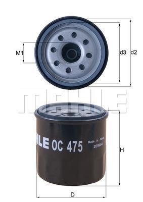 Filtre a huile MAHLE OC 475 (X1)