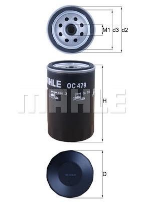 Filtre a huile MAHLE OC 479 (X1)