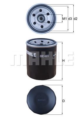 Filtre a huile MAHLE OC 495 (X1)