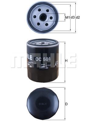 Filtre a huile MAHLE OC 501 (X1)