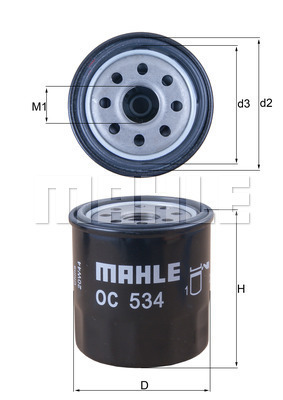 Filtre a huile MAHLE OC 534 (X1)
