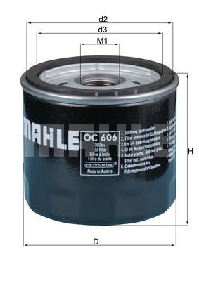 Filtre a huile MAHLE OC 606 (X1)