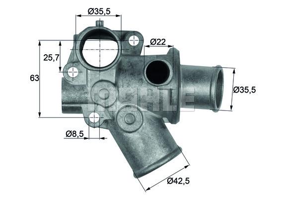 Thermostat/calorstat MAHLE TI 70 80D (X1)