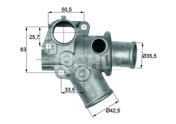 Thermostat/calorstat MAHLE TI 112 80D (X1)