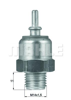 Interrupteur de temperature, ventilateur de radiateur MAHLE TSW 39 (X1)