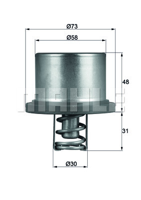 Thermostat/calorstat MAHLE THD 2 89 (X1)