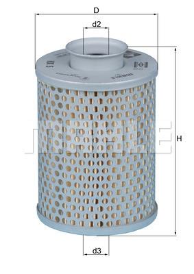 Filtre a huile de boite de vitesse MAHLE HX 5 (X1)