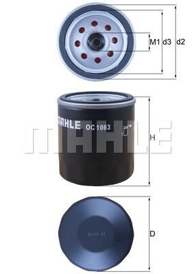 Filtre a huile MAHLE OC 1063 (X1)