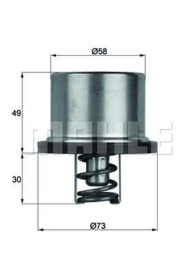 Thermostat/calorstat MAHLE THD 1 82 (X1)