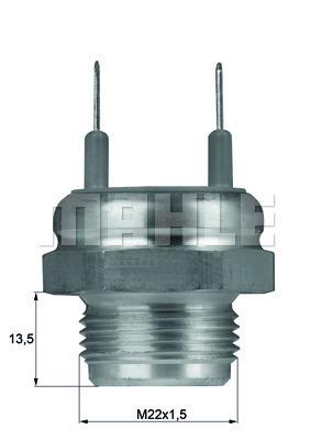 Interrupteur de temperature, ventilateur de radiateur MAHLE TSW 8D (X1)