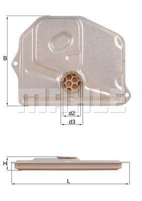 Filtre a huile de boite de vitesse MAHLE HX 45 (X1)