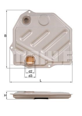 Filtre a huile de boite de vitesse MAHLE HX 46 (X1)
