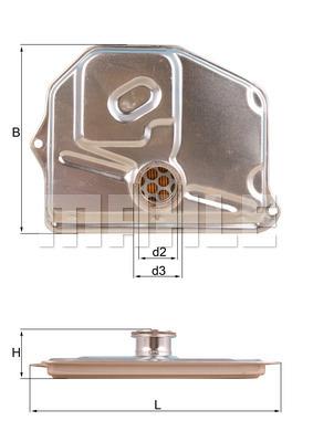 Filtre a huile de boite de vitesse MAHLE HX 47 (X1)