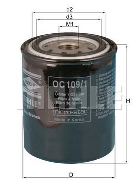 Filtre a huile MAHLE OC 109/1 (X1)