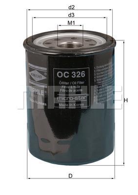 Filtre a huile MAHLE OC 326 (X1)