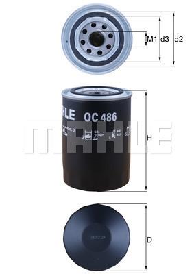 Filtre a huile MAHLE OC 486 (X1)