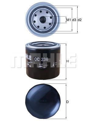 Filtre a huile MAHLE OC 236 (X1)