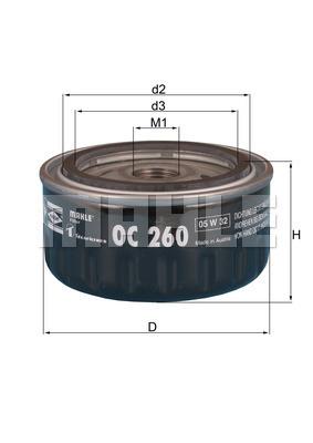 Filtre a huile MAHLE OC 260 (X1)