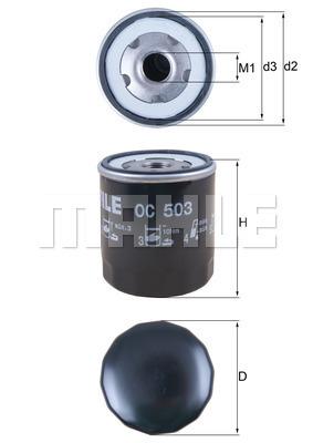 Filtre a huile MAHLE OC 503 (X1)