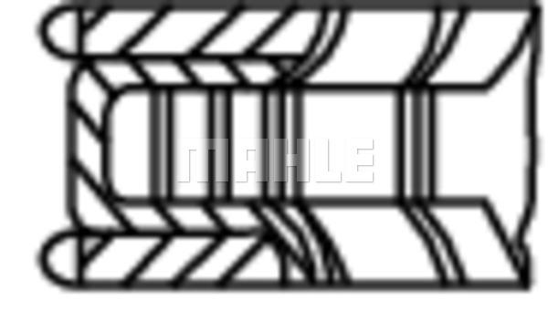 Segments de piston MAHLE 001 06 N0 (X1)