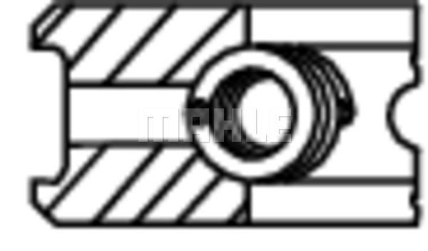 Segments de piston MAHLE 021 82 N0 (X1)