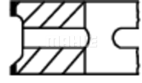 Segments de piston MAHLE 034 18 N3 (X1)