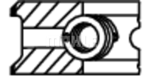 Segments de piston MAHLE 022 13 N0 (X1)