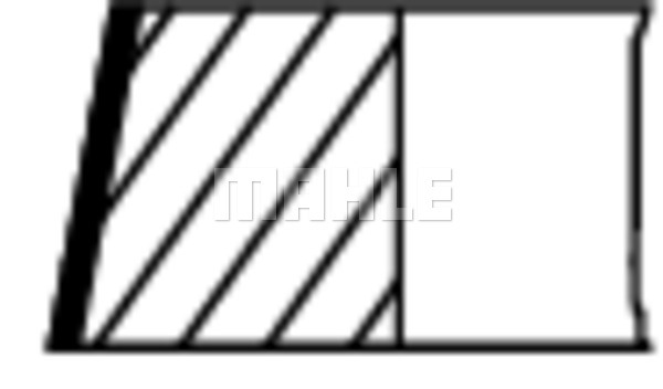 Segments de piston MAHLE 503 37 N0 (X1)