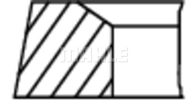 Segments de piston MAHLE 503 04 N0 (X1)