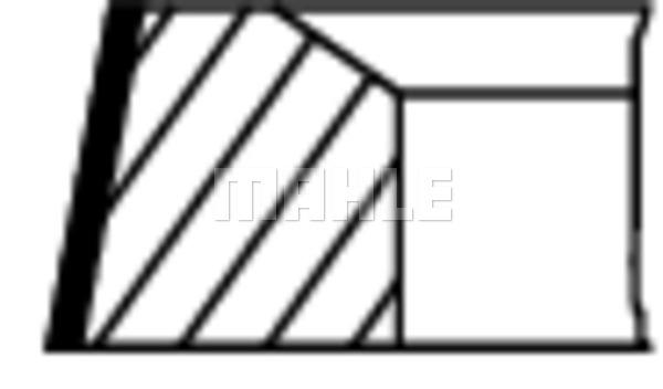 Segments de piston MAHLE 504 01 N0 (X1)