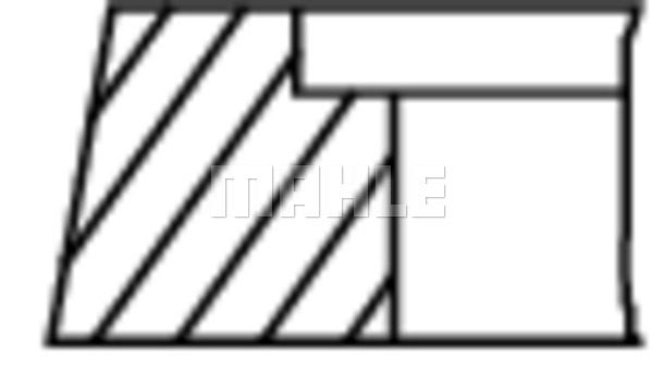 Segments de piston MAHLE 503 03 N0 (X1)