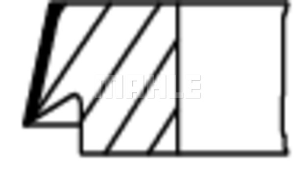 Segments de piston MAHLE 002 49 G2 (X1)