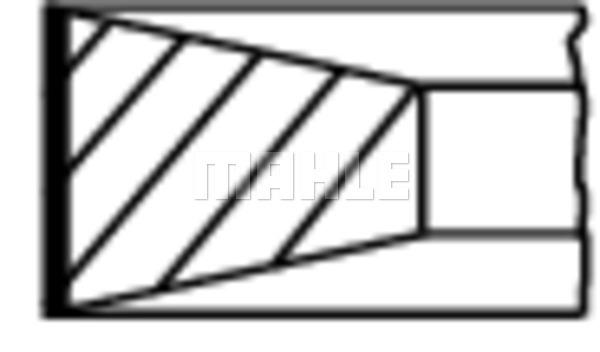 Segments de piston MAHLE 004 45 V0 (X1)