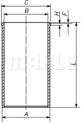 Chemise de cylindre MAHLE 029 WV 20 00 (X1)