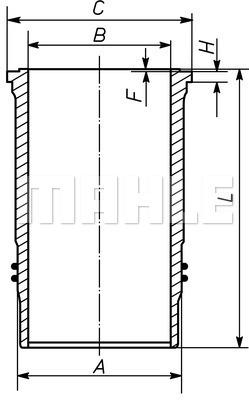 Chemise de cylindre MAHLE 037 LW 00104 001 (X1)