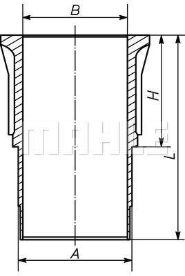 Chemise de cylindre MAHLE 279 WN 01 00 (X1)
