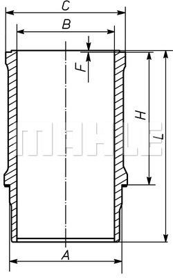 Chemise de cylindre MAHLE 233 WN 09 00 (X1)