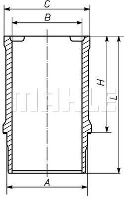 Chemise de cylindre MAHLE 021 WN 23 01 (X1)