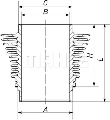 Chemise de cylindre MAHLE 503 WR 18 00 (X1)
