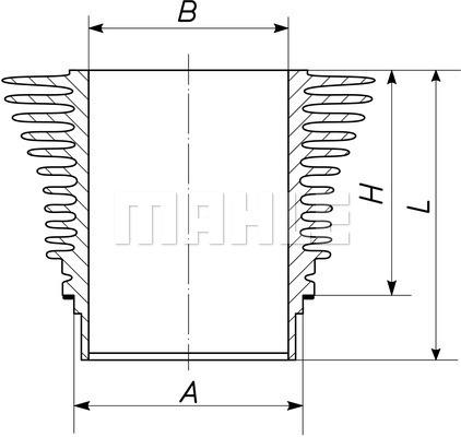 Chemise de cylindre MAHLE 096 WR 01 00 (X1)