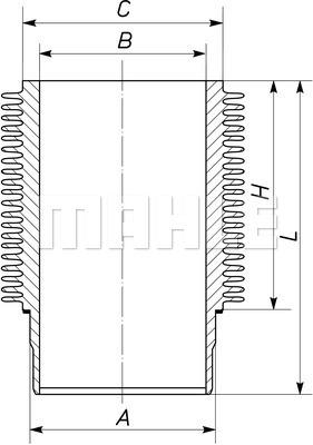 Chemise de cylindre MAHLE 101 WR 09 01 (X1)