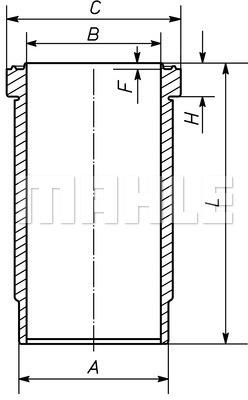 Chemise de cylindre MAHLE 007 WN 45 00 (X1)